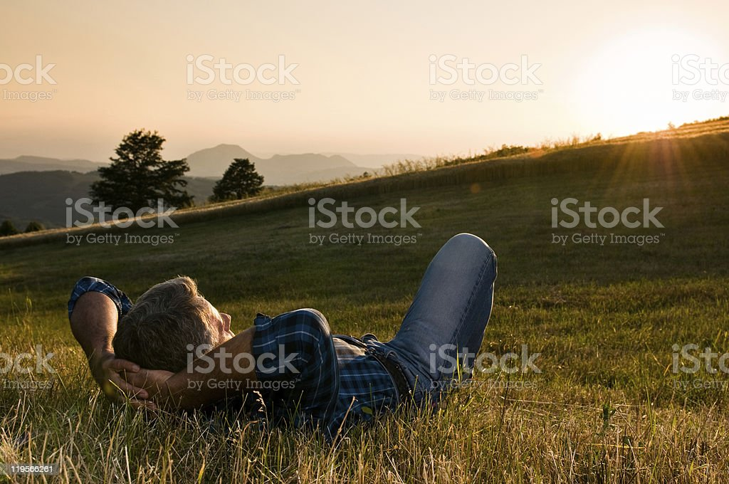 Outdoor relax stock photo