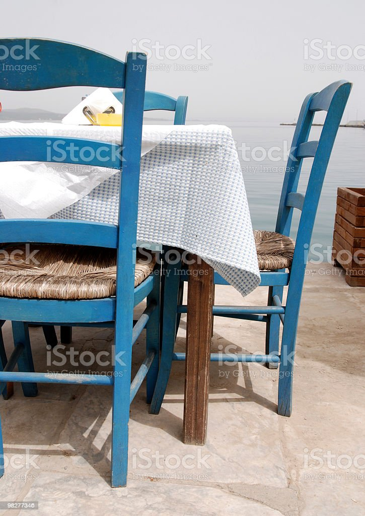 outdoor restaurant at seaside royalty-free stock photo