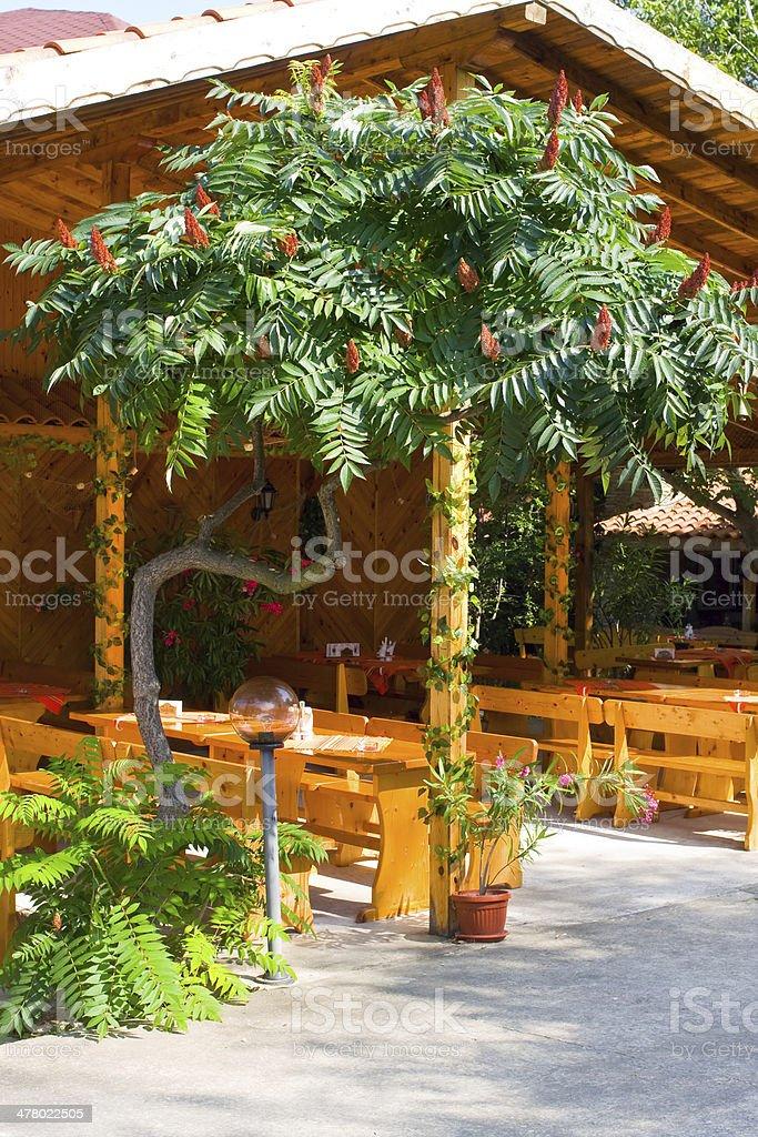 Outdoor restaurant, Bulgaria royalty-free stock photo