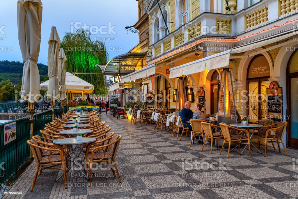 Outdoor Restaurant In Prague Stock Photo Download Image Now Istock