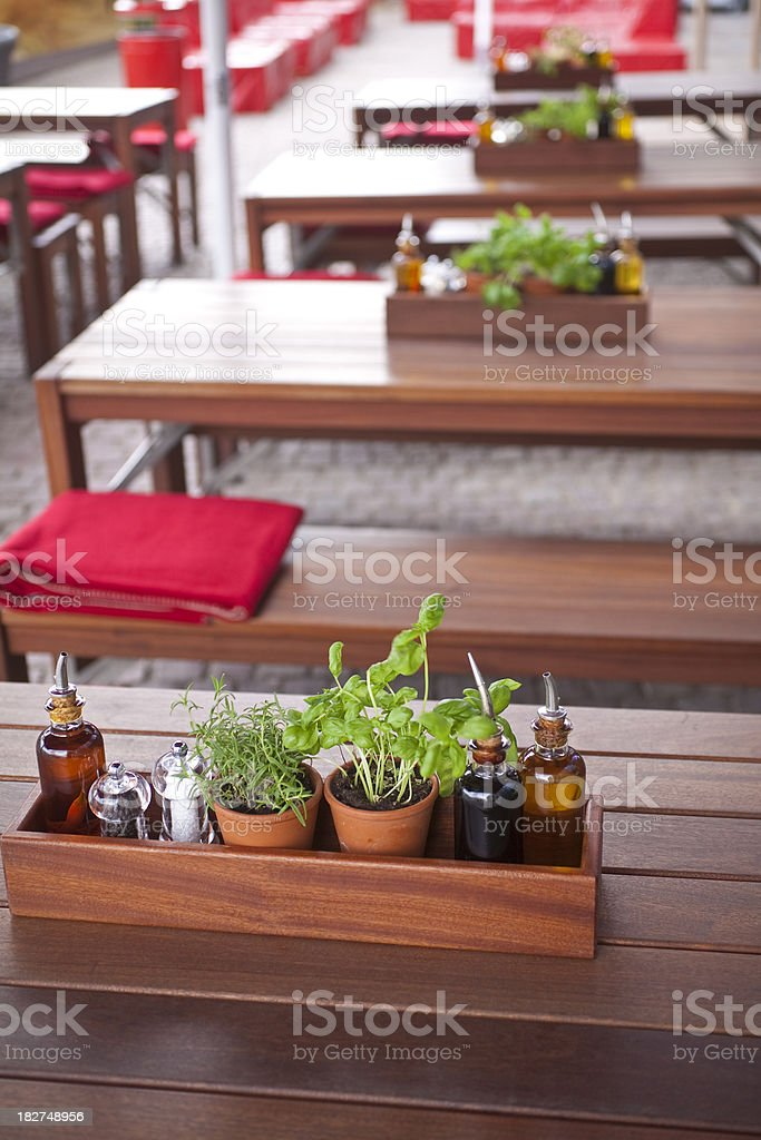 outdoor restaurant royalty-free stock photo