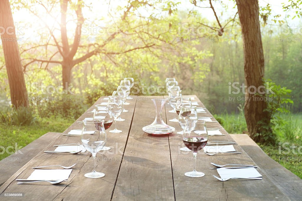 Outdoor restaurant stock photo