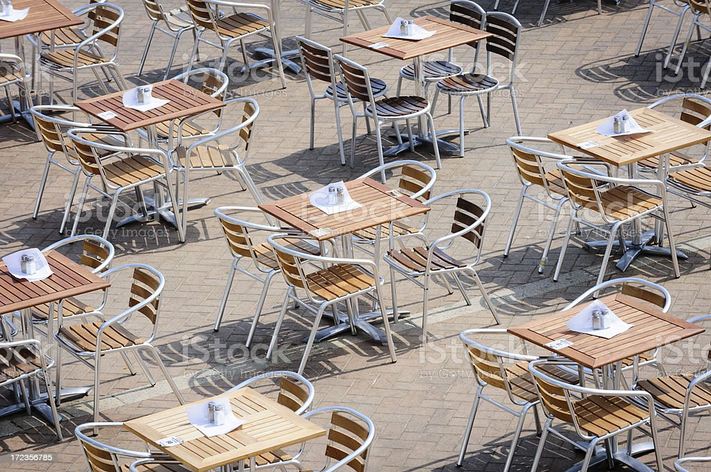 Outdoor Restaurant Tables royalty-free stock photo