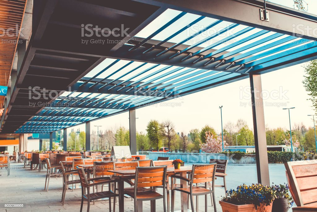 Outdoor Restaurant Terrace Stock Photo Download Image Now Istock