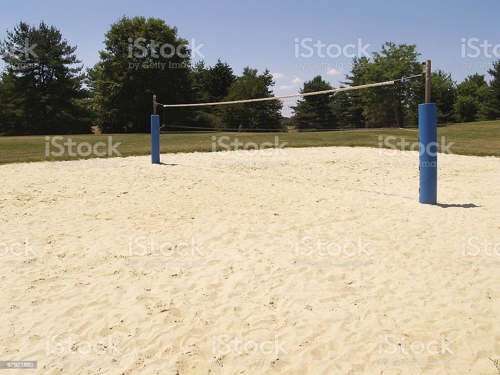 outdoor sand volleyball court royalty-free stock photo