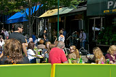 istock Outdoor seated Bar-Cafe customers 458654619