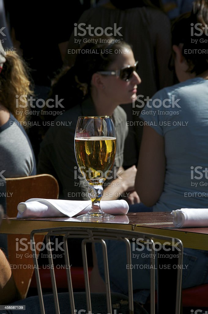Outdoor seated Bar-Restaurant customers stock photo