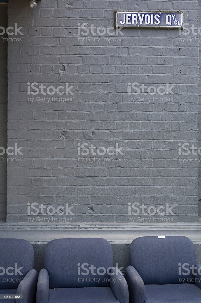 Outdoor Seating Area royalty-free stock photo