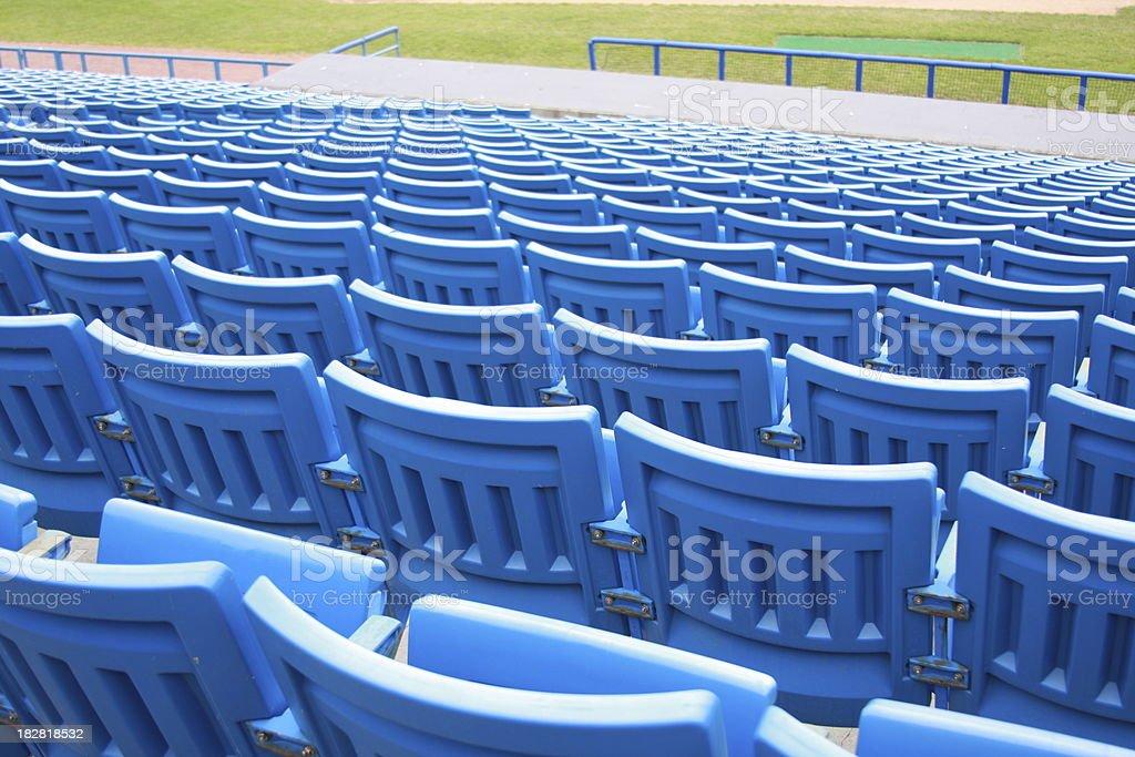 Outdoor seats stock photo