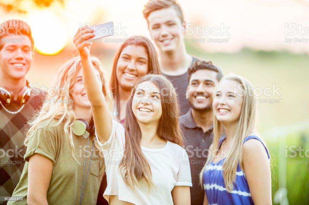 Outdoor Selfie stock photo