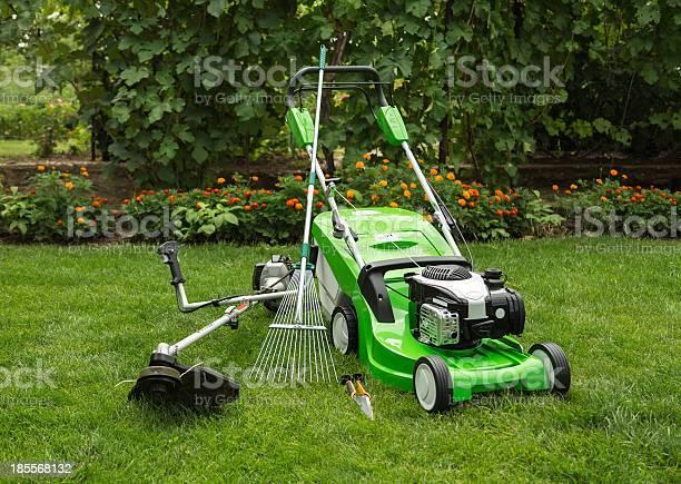 Outdoor Shot Of Garden Equipment Stock Photo - Download Image Now