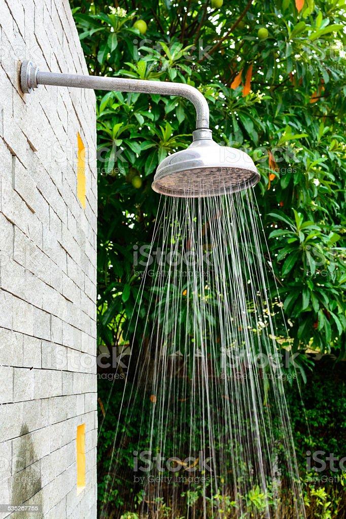 Outdoor Shower Head Stock Photo - Download Image Now - iStock