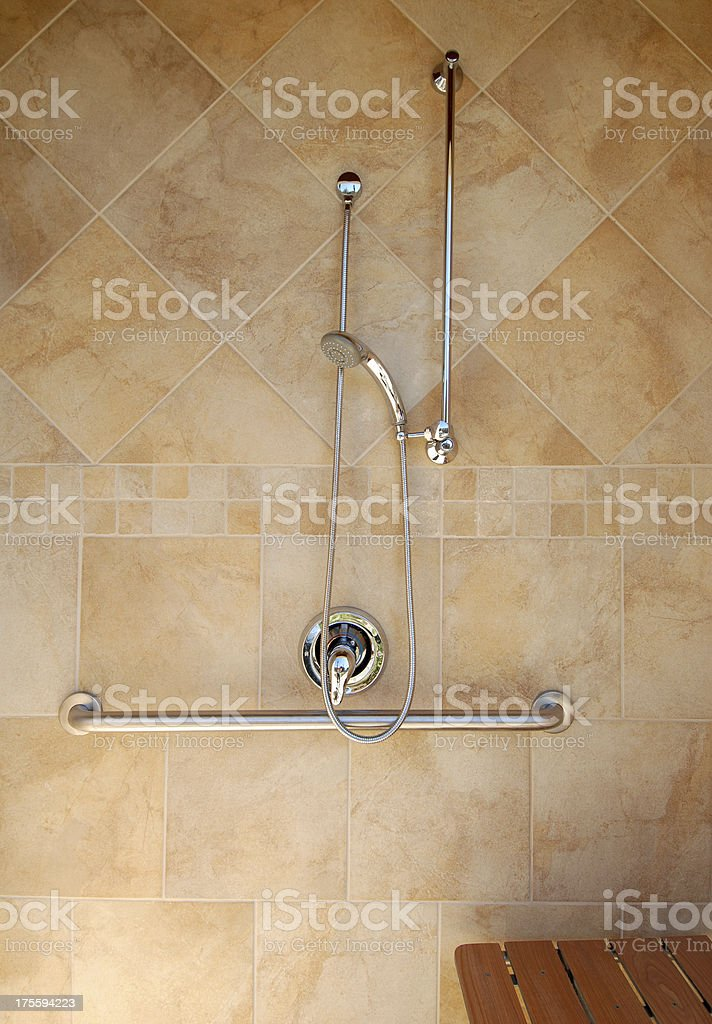 Outdoor shower royalty-free stock photo