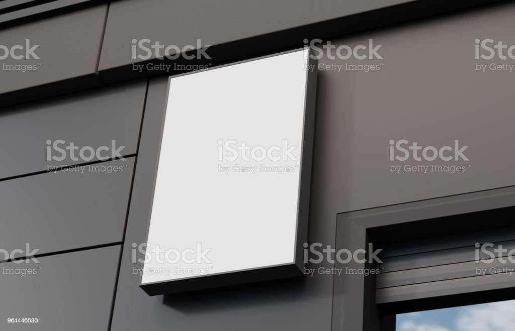 Outdoor signage, signboard mockup stock photo
