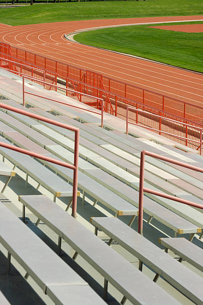 Outdoor Stadium Track and Field Vt stock photo