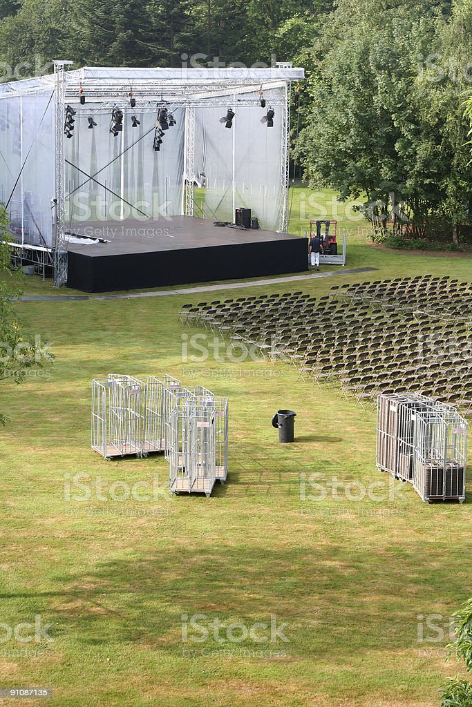 Outdoor Stage royalty-free stock photo