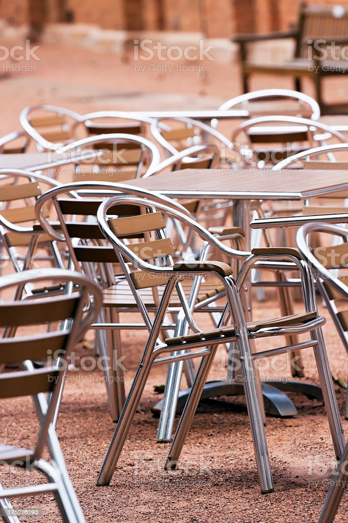 Outdoor Stainless Steel Chairs And Tables Stock Photo Download Image Now Istock