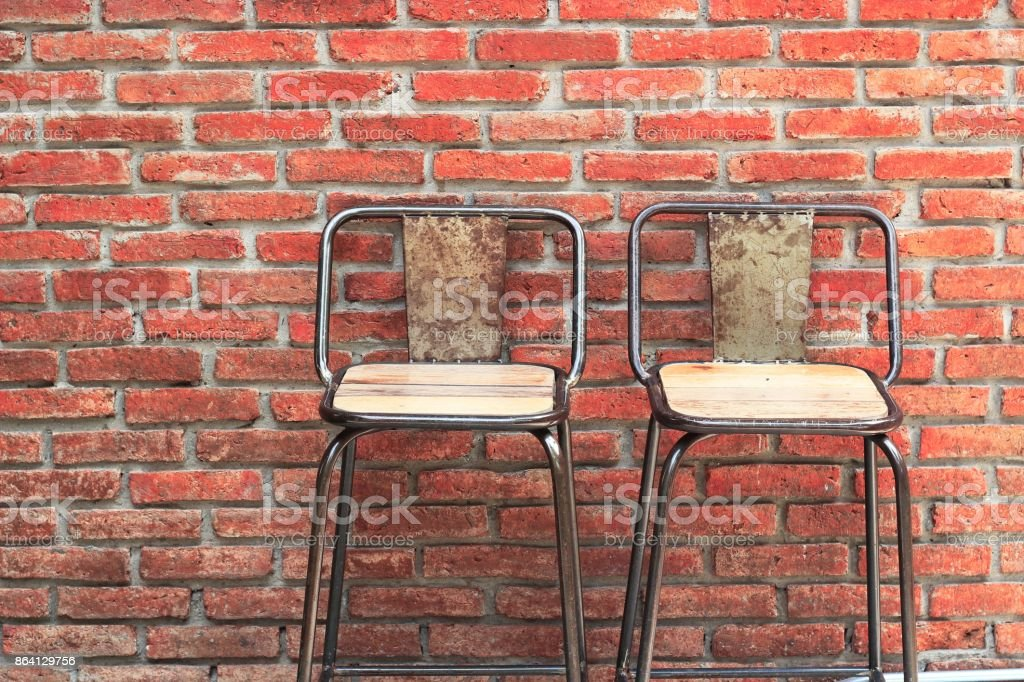 Outdoor steel chair royalty-free stock photo