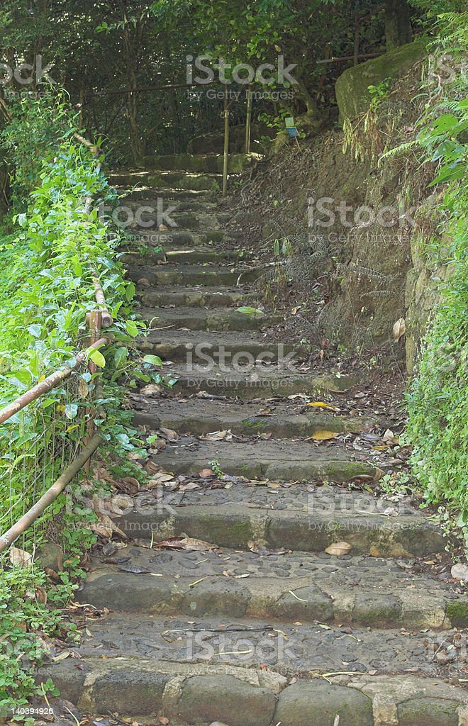 outdoor steps stock photo