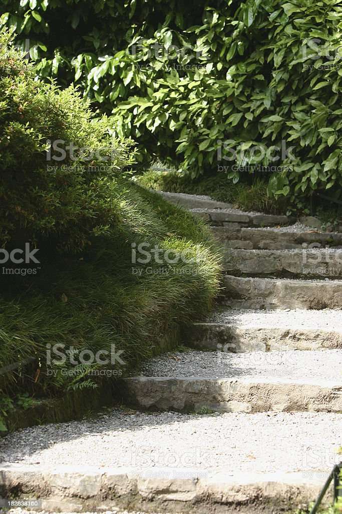 Outdoor steps royalty-free stock photo