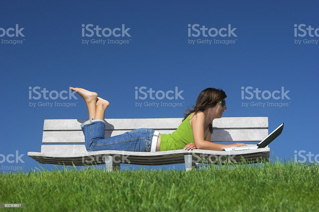 Outdoor study royalty-free stock photo