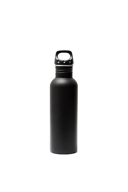 estilo ao ar livre, para beber uma garrafa de água, isolado no fundo branco - sports water bottle - fotografias e filmes do acervo