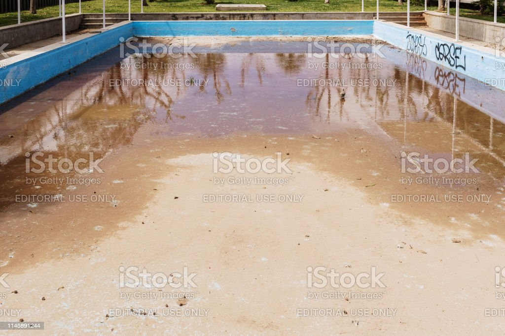 Outdoor Swimming Pool Abandoned And Dirty Stock Photo Download Image Now Istock
