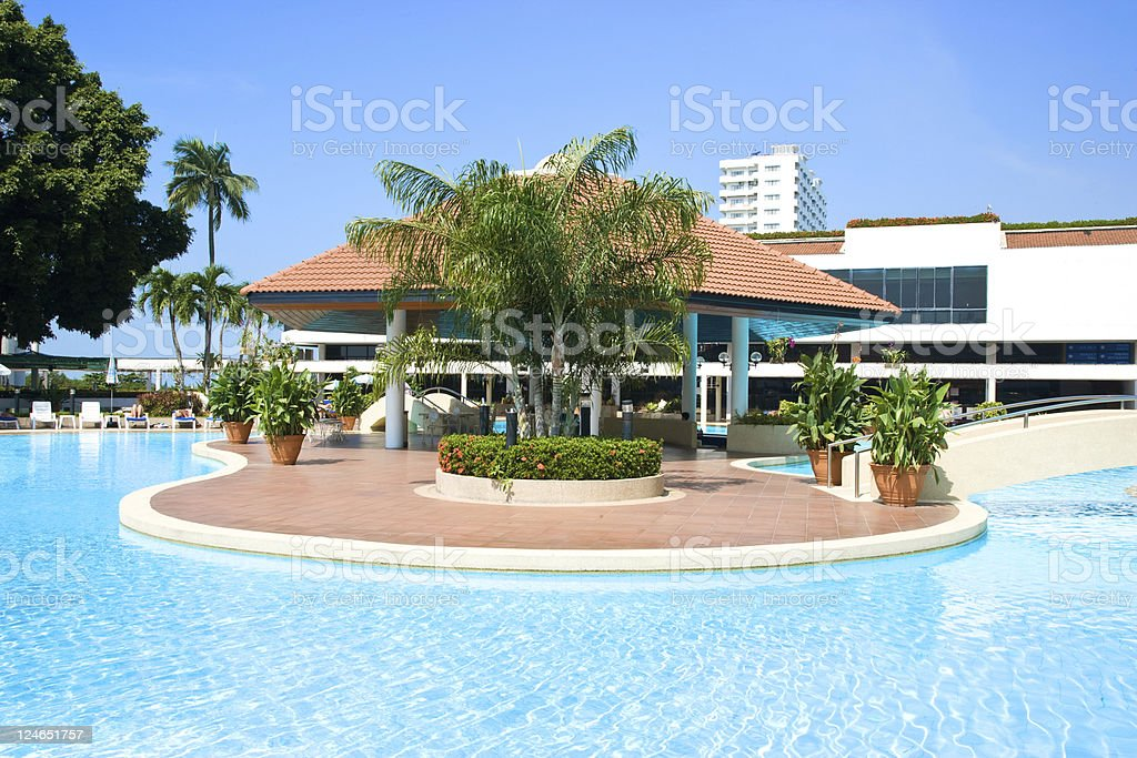 outdoor swimming pool royalty-free stock photo