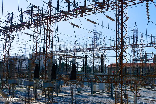 outdoor switchyard center high voltage substations