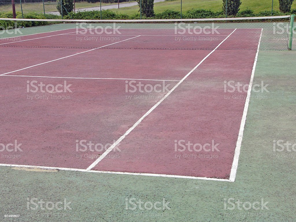 Outdoor Tennis Court 2 royalty-free stock photo