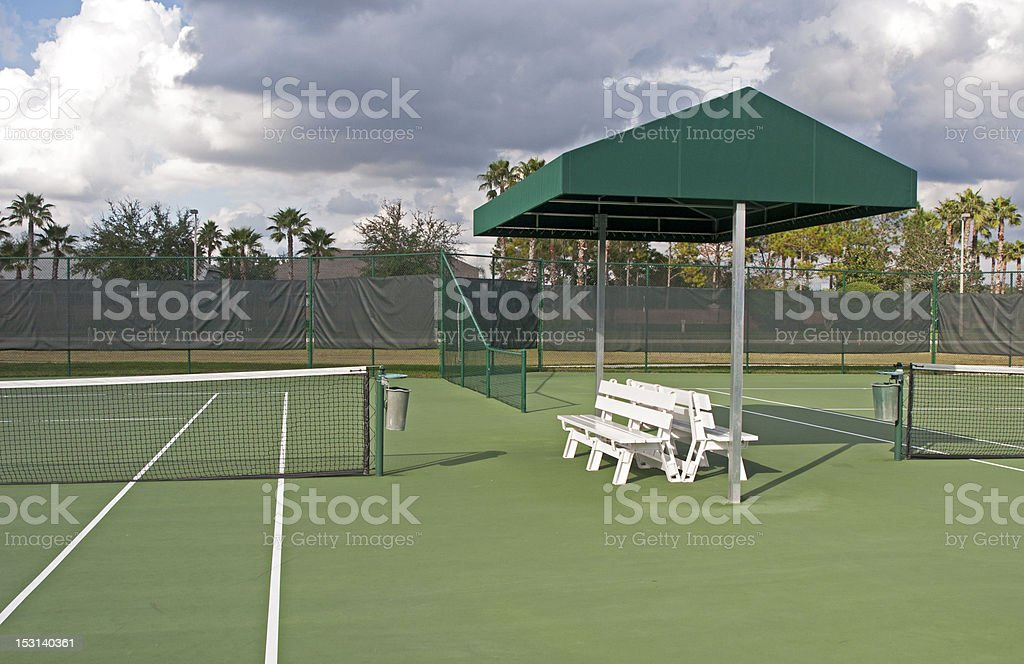Outdoor Tennis Court Stock Photo More Pictures Of Bench Istock