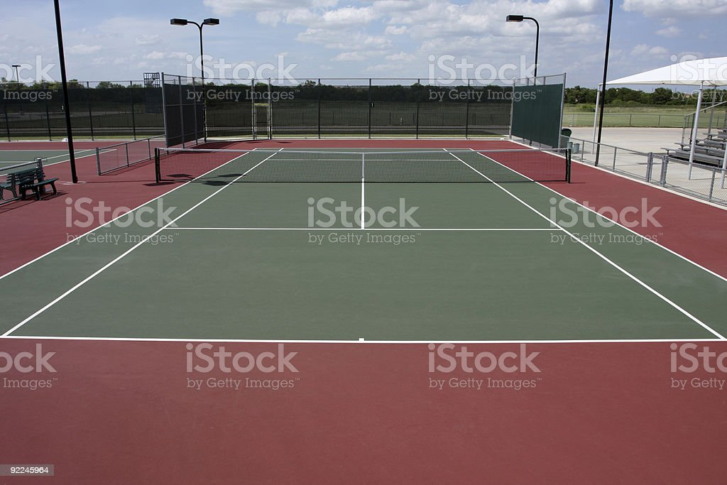 Outdoor Tennis Court stock photo