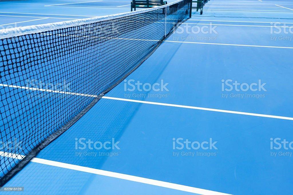 Outdoor Tennis Net Shallow Depth of View stock photo