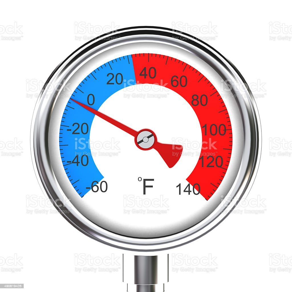 Outdoor thermometer stock photo
