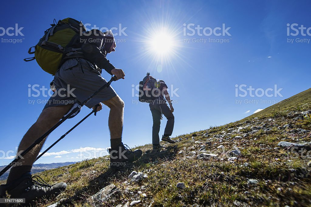 outdoor trekking stock photo