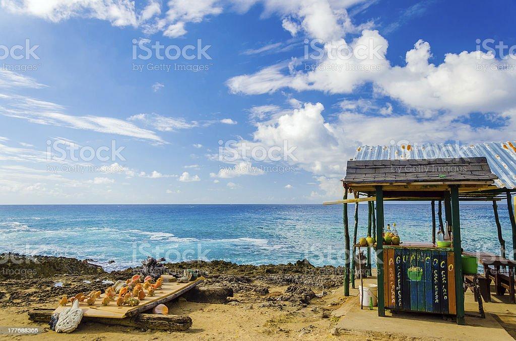 Outdoor Tropical Bar and Souvenirs stock photo