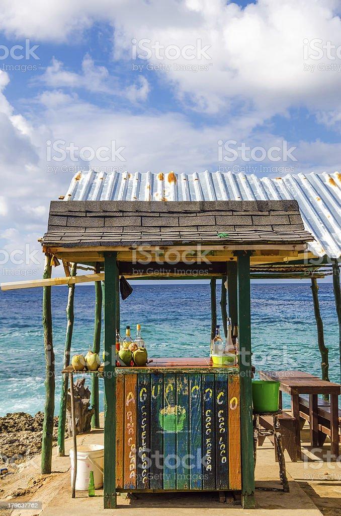 Outdoor Tropical Bar stock photo