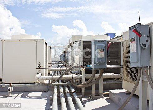 istock Outdoor Unit of Air Conditioning Compressor 514913494