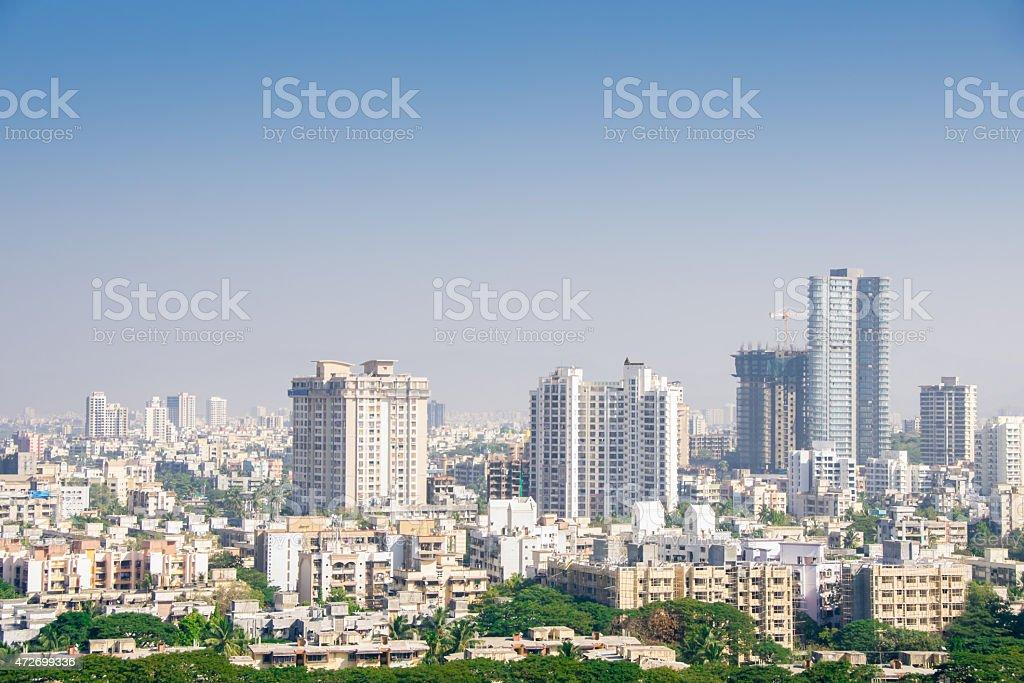 Outdoor view of the Mumbai skyline stock photo