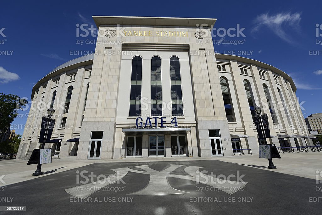Outdoor View of Yankee Stadium royalty-free stock photo
