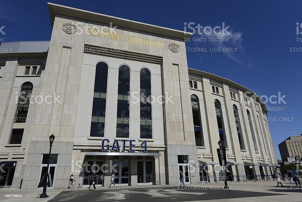 Outdoor View of Yankee Stadium royalty-free stock photo