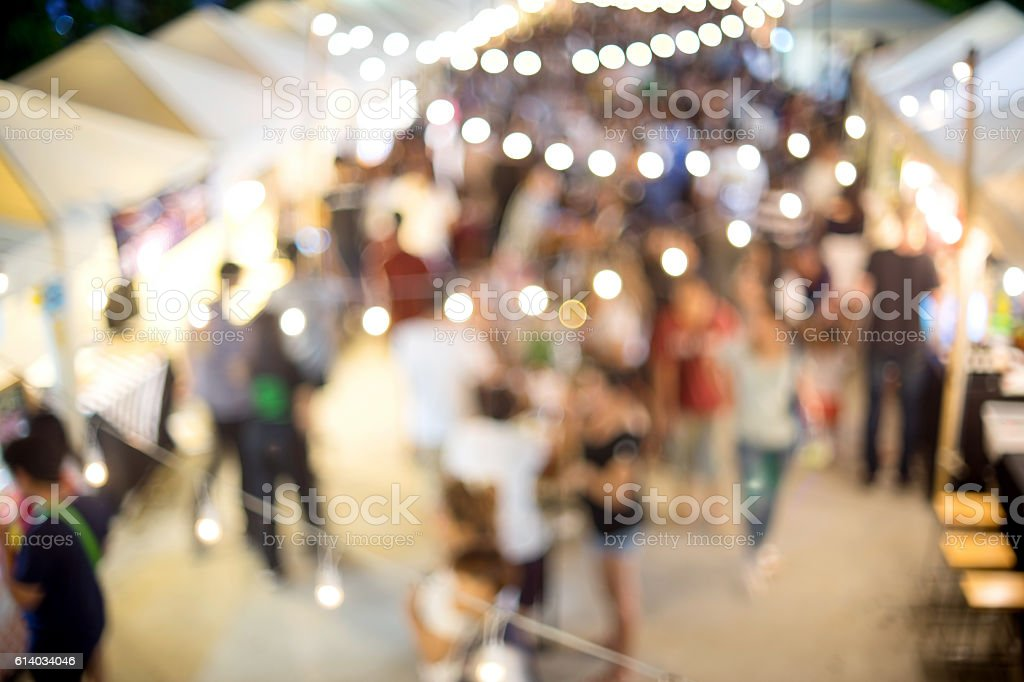 outdoor walking market place stock photo
