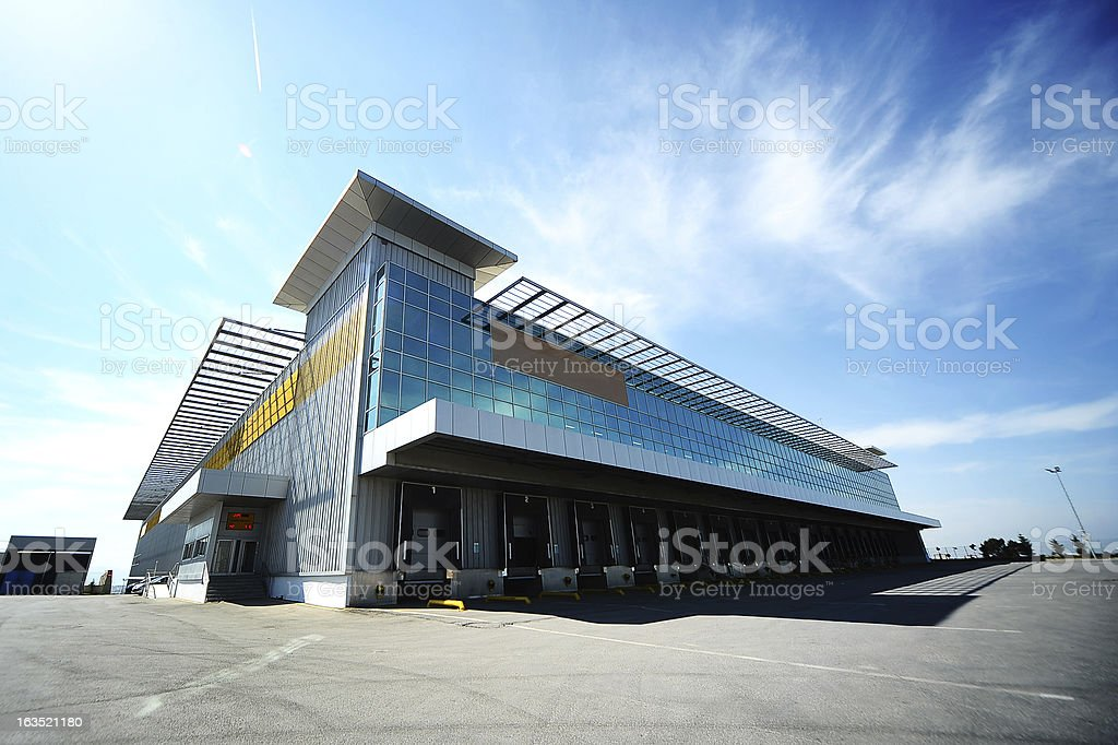 Outdoor warehouse stock photo