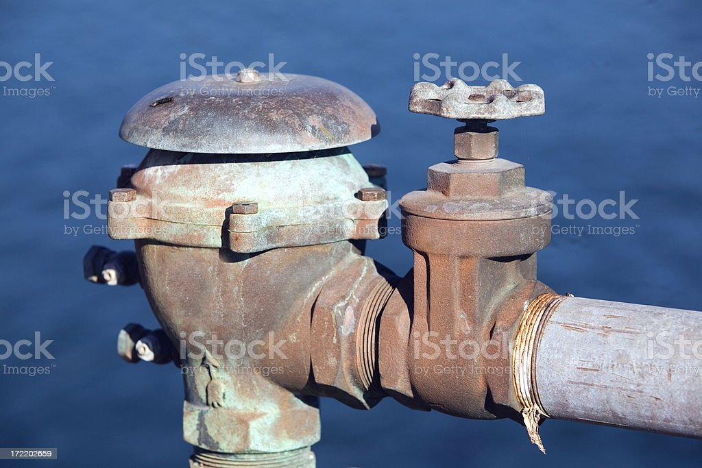 Outdoor Water Valve and Piping royalty-free stock photo