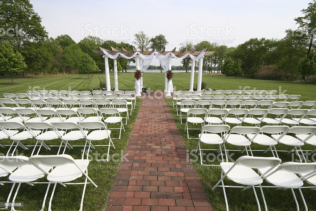 Outdoor Wedding Altar Stock Photo & More Pictures Of Above