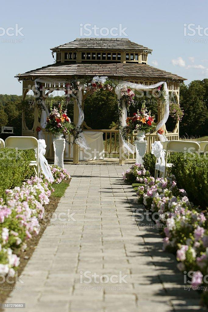 Outdoor wedding Gazebo royalty-free stock photo