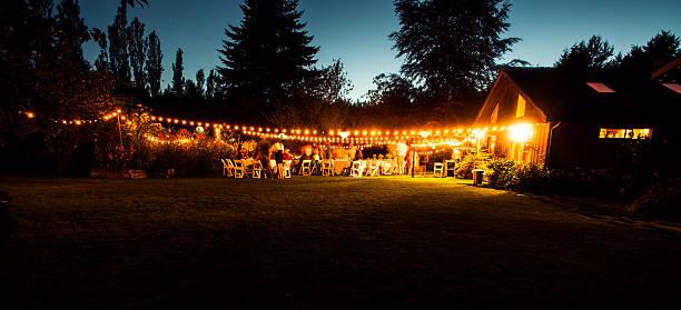 recepção de casamento ao ar livre - festa no jardim - fotografias e filmes do acervo