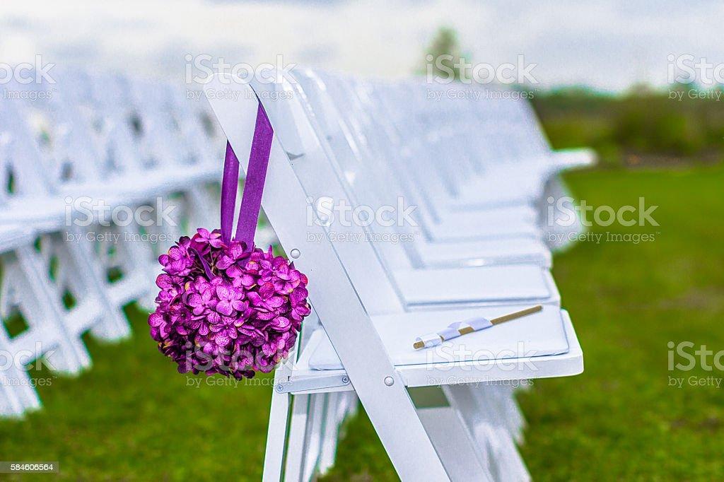Outdoor Wedding Seating stock photo