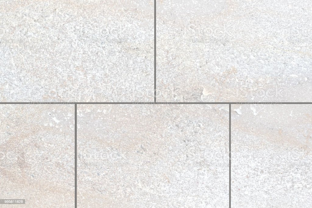 Outdoor White Granite Stone Floor Tile Seamless Background And