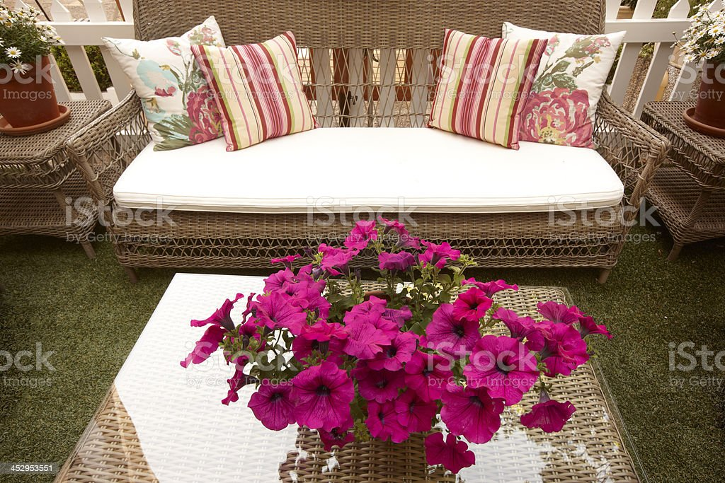 Outdoor Wicker forniture royalty-free stock photo